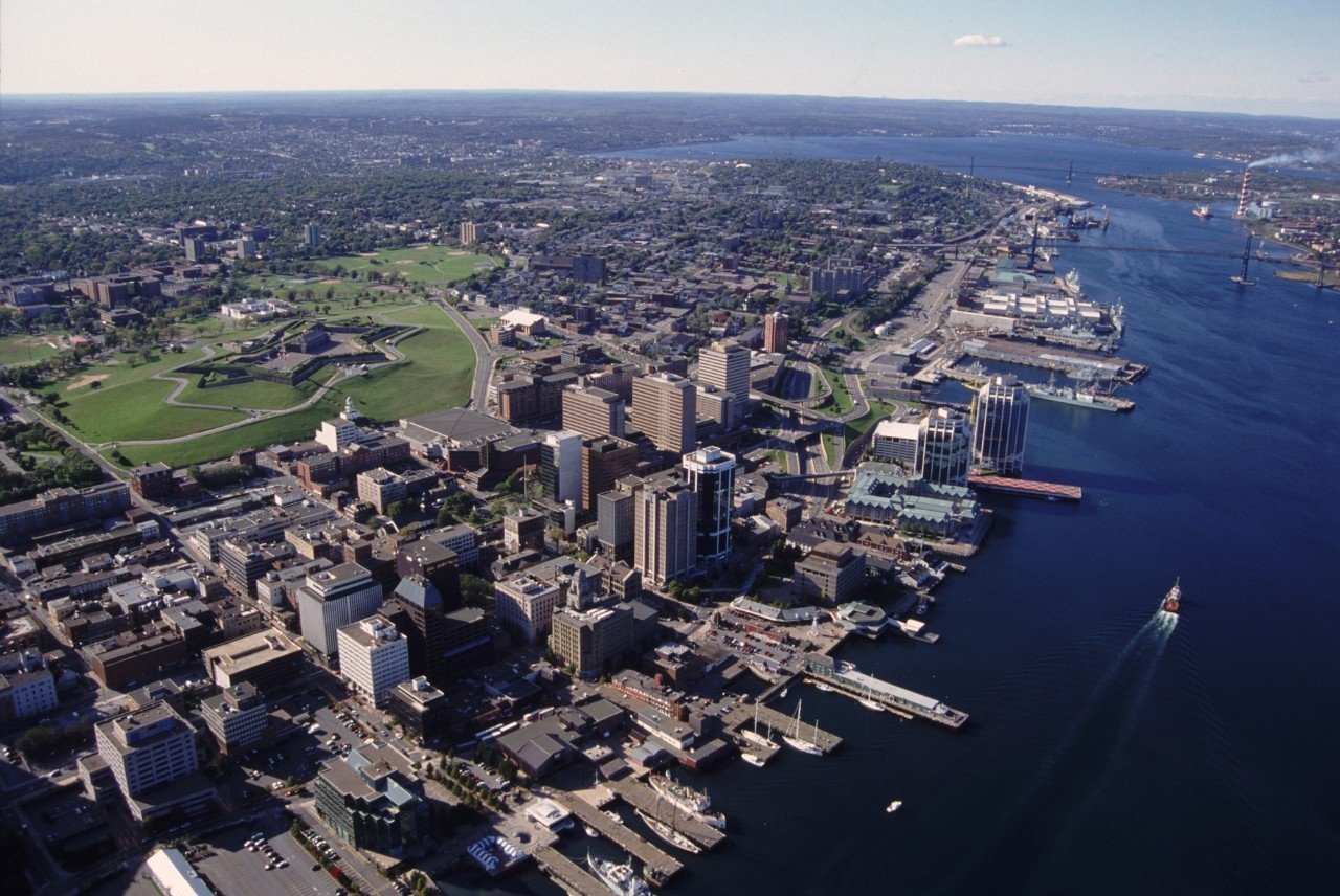 Aerial view of Halifax, Nova Scotia