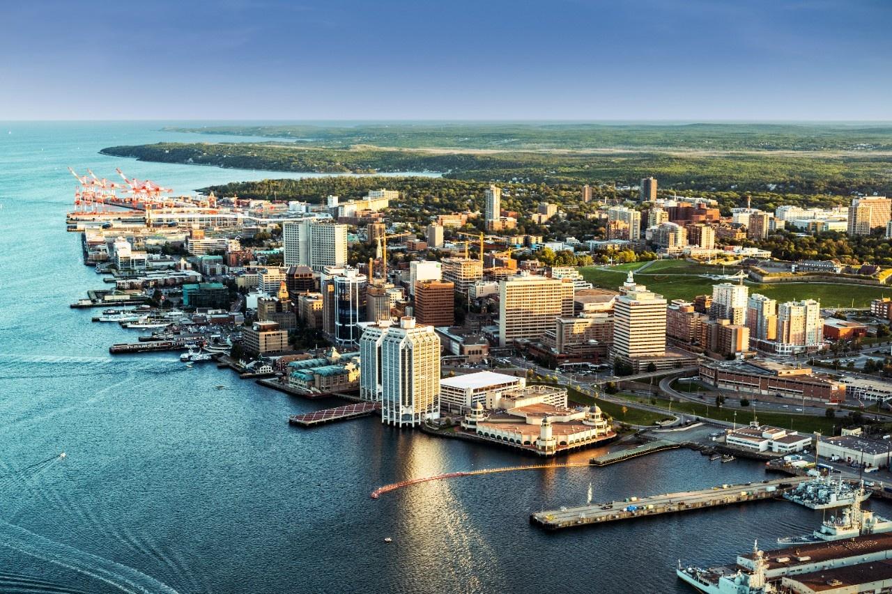 Aerial photo of Halifax, Nova Scotia.