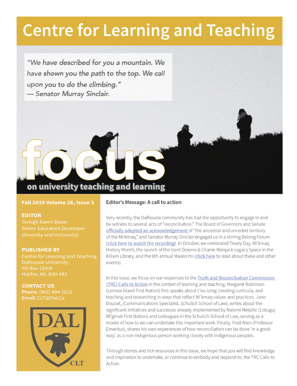 3 Education Issues That Will Have To Be Reconciled After >> Answering The Call Dal News Dalhousie University