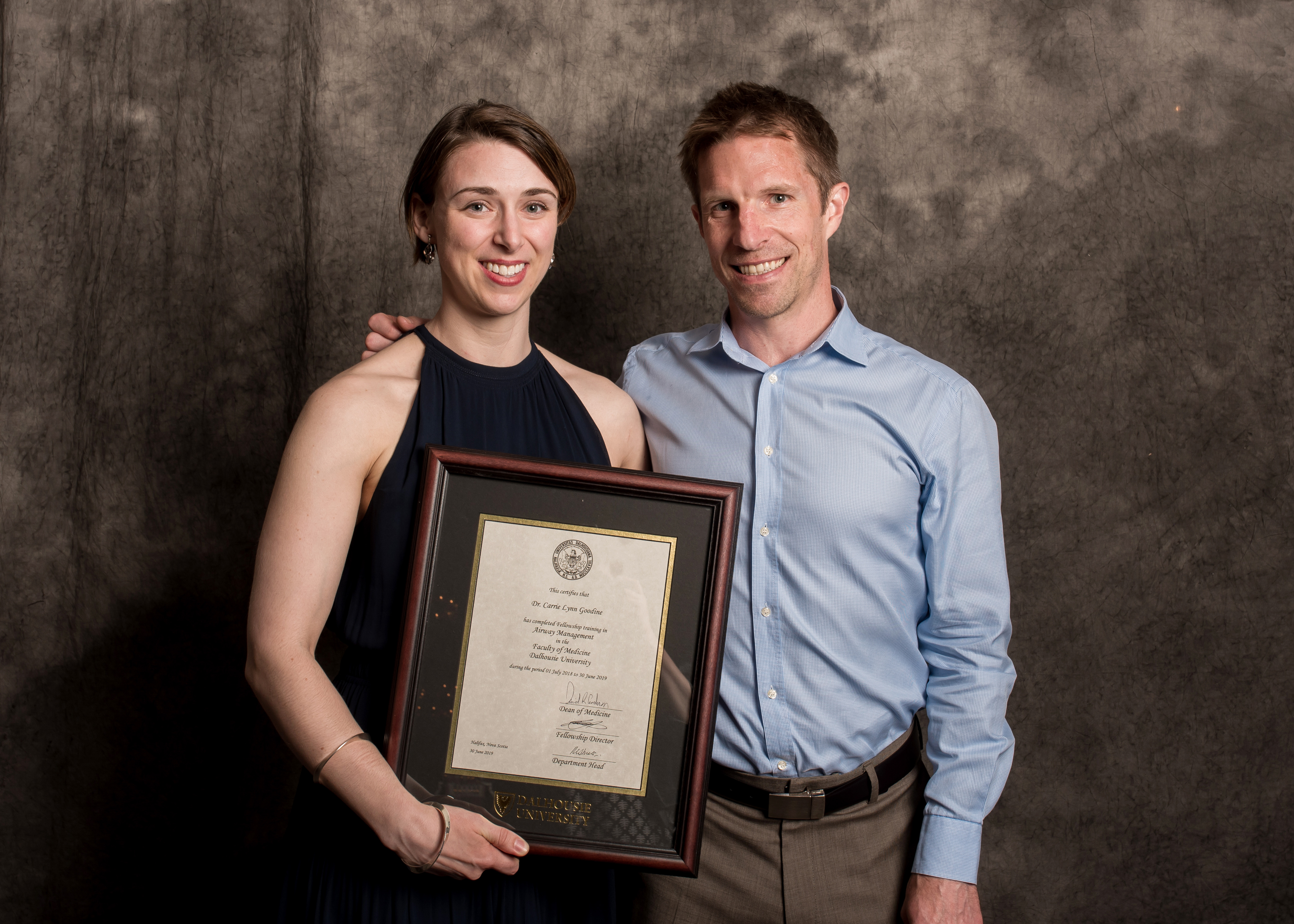 Dr. Tim Mullen and Dr. Carrie Goodine