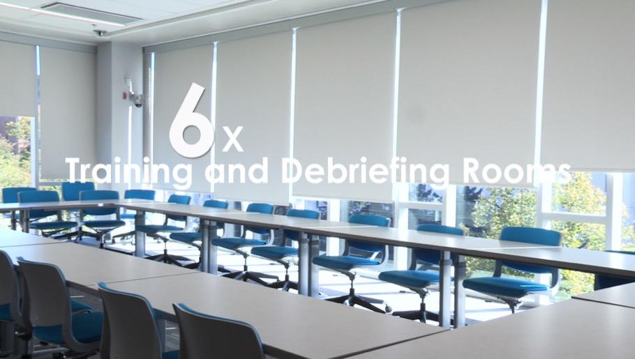 Debriefing meeting room