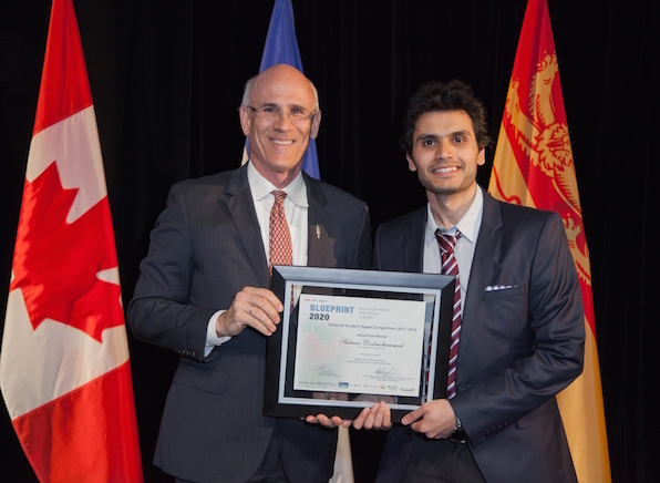 Public admin students go national with blueprint win faculty of michael wernick clerk of the privy council presents salman dostmohammad with the blueprint 2020 award malvernweather Gallery
