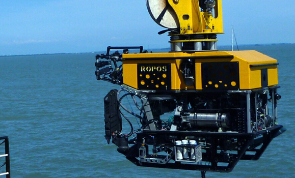 Remotely Operated Platform for Ocean Science (ROPOS) is a remotely operated vehicle designed to carry out a wide range of scientific explorations at depths down to 5,000 meters. Image courtesy of NOAA Office of Ocean Exploration and Research.
