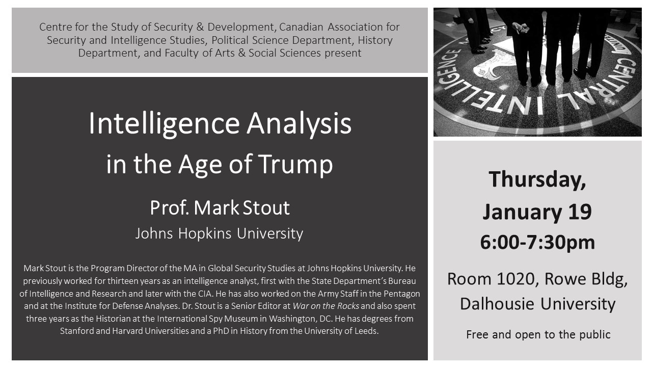 """INTELLIGENCE ANALYSIS IN THE AGE OF TRUMP"""" - Centre for the"""