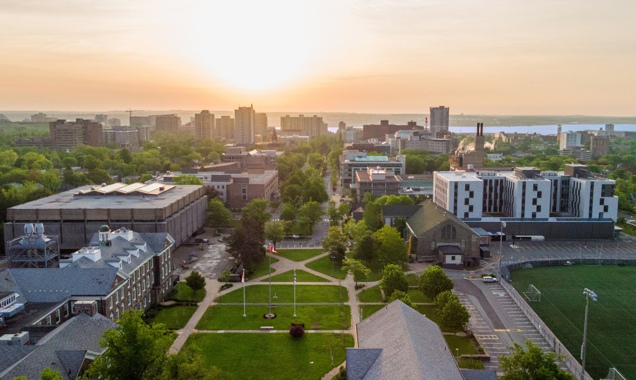 Aerial shot of Halifax Dalhousie campus