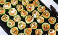 Sample tray of catered food