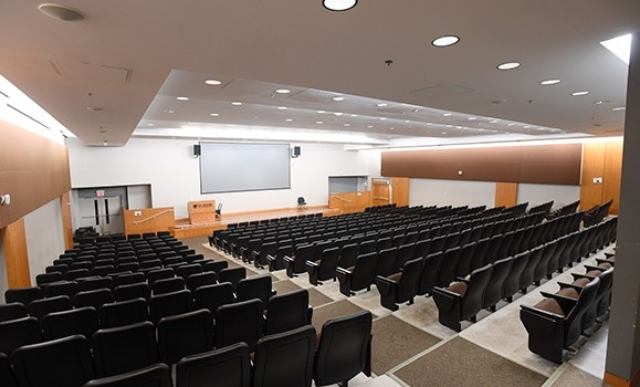 Potter Auditorium, Kenneth C. Rowe Management Building