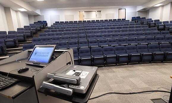 Audiovisual equipment in Tupper Theatre B