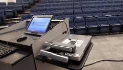 Audiovisual equipment in Tupper Theatre B