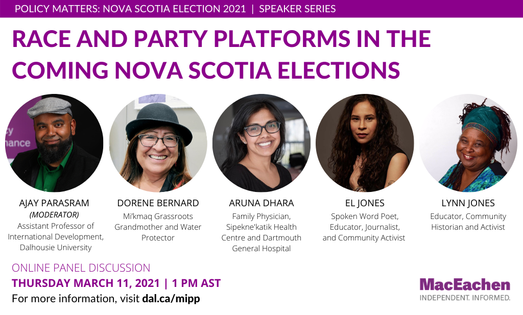 Race and party platforms in the coming nova scotia elections
