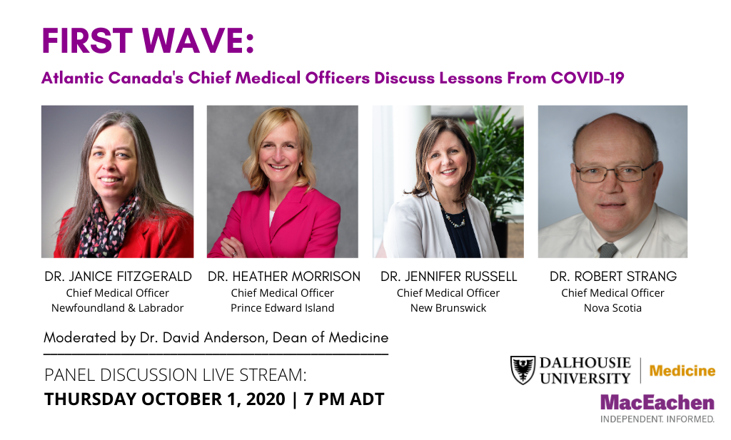 First Wave: Atlantic Canada's Chief Medical Officers Discuss Lessons From COVID-19