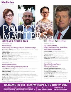 Policy Matters Schedule 2019 - Sidebar