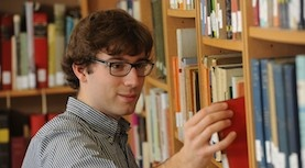 Dalhousie researcher in library