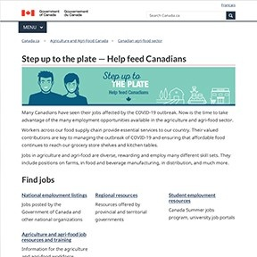 Canadian Ag Food Sector - Step up to the plate