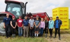 Precision Agriculture Research Team and High School Students Working at Wild Blueberry Field