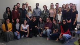 HRM Councillor Lindell Smith (back row, center) visited Ren Thomas' PLAN 4001/4002 class on October 5, 2017