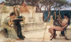 Sappho and Alcaeus spending their summers enjoying Classics