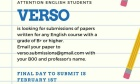 Verso Journal Call for Submissions!