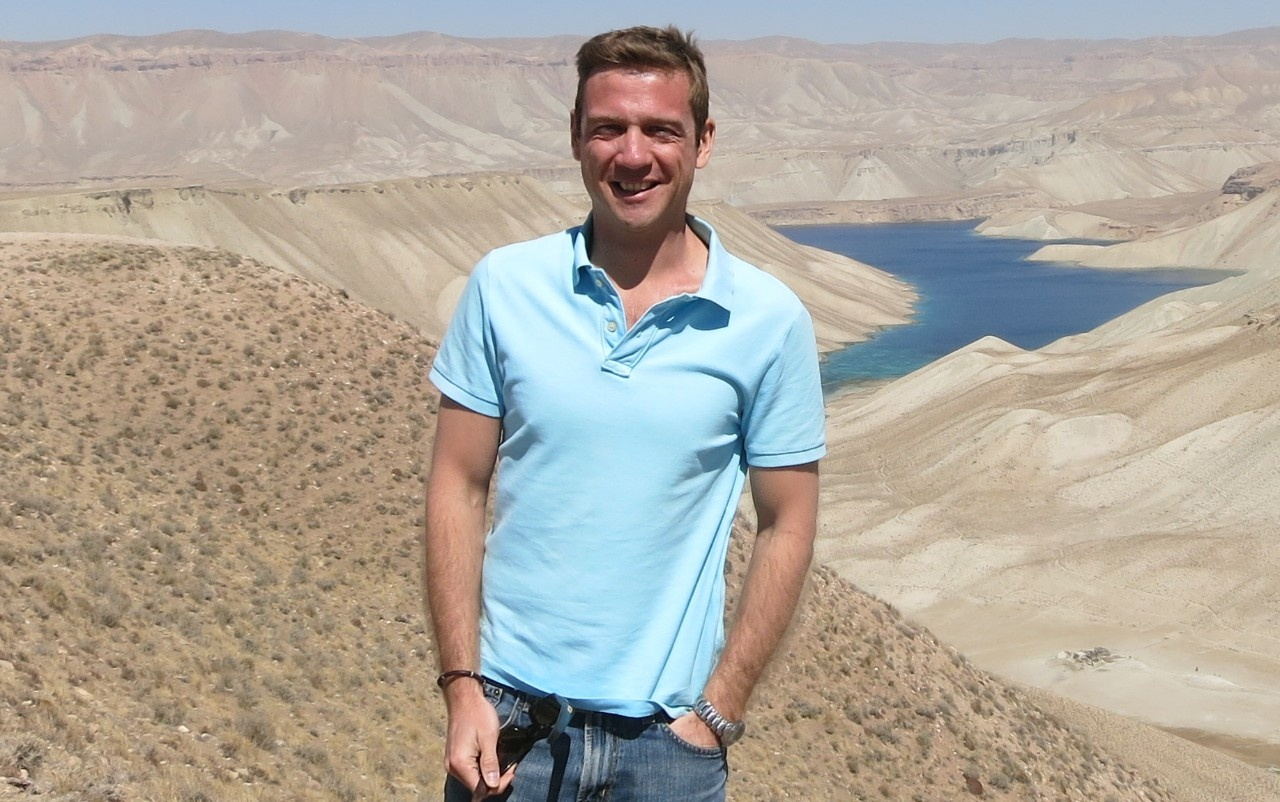 Christopher Matthewson in Band-i-Amir, Bamyan, Afghanistan copy 2