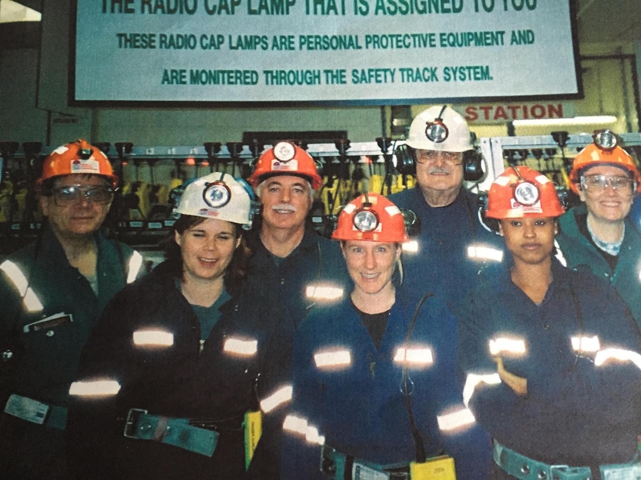 Sue Dobson (Centre) at the Sudbury Neutrino Observatory
