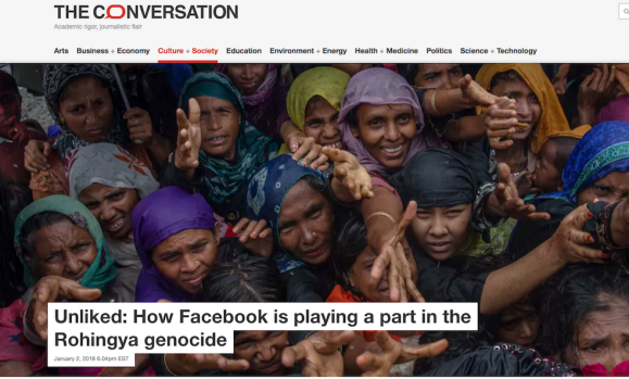 Unliked: How Facebook is playing a part in the Rohingya genocide.