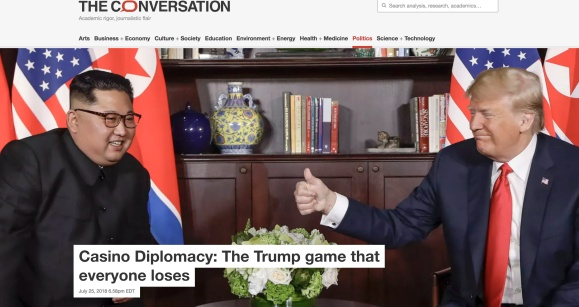 "Prof. Huish: Donald Trump and ""Casino Diplomacy"""