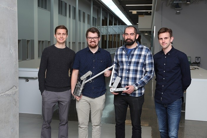 The Capstone Team behind the biomechanical arm assist.
