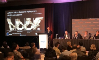 Dr. Wong presenting at the 2019 Vail Hip Symposium