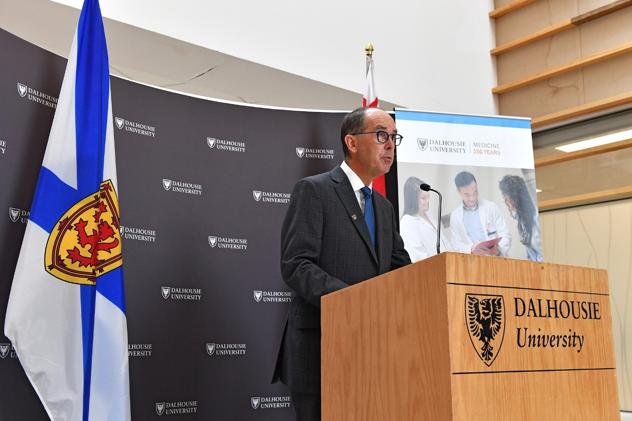Dr. David Anderson addressing the crowd (Photo credit: Communications Nova Scotia)