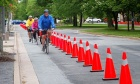 A test track for new bike lanes