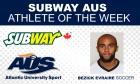 AUS Athlete of the Week (week ending Sept. 27)