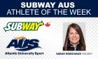 Subway AUS Athlete of the Week (week ending Oct. 25)