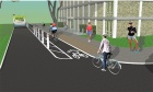 University Avenue protected bike lane kicks into gear