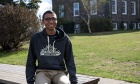 Talking respect with Xavier Hartley (student, Get REAL hype team member)