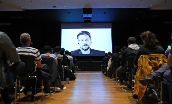 Watching the watchers: Edward Snowden talks surveillance and security in Dal lecture