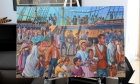 Painting commemorating migration of Black refugees to Nova Scotia on special loan from Army Museum