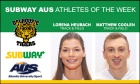 Heubach and Coolen named Subway AUS Athletes of the Week