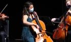Parking lot practice turns into impromptu concert for graduating Fountain School cellist