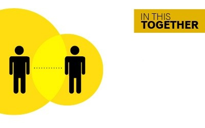 In this together - be respectful of other people's space