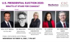 """US Presidential Election 2020: What's at Stake for Canada?"" (October 14)"