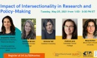 """May 25 event on """"Impact of Intersectionality in Research and Policy‑Making"""""""