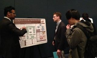 Mahmudur Rahman Fatmi explains his research poster
