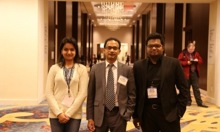 Irin, Dr. Habib, and Nazmul at TRB 2015