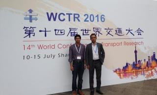 MD Jahedul Alam and Dr. Ahsan Habib at WCTR Shanghai