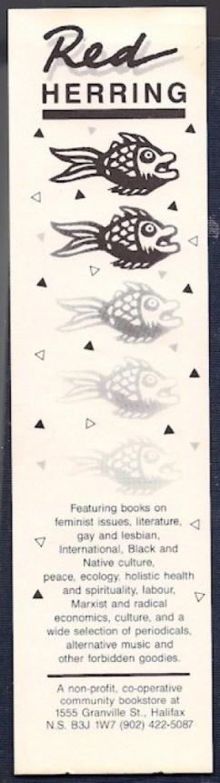 Red Herring Bookstore Bookmark, ca. 1990
